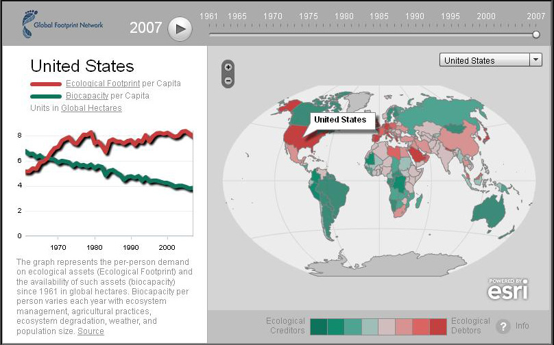 overshoot Global Footprint | Map Stories