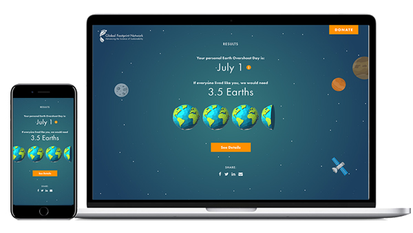 Try our Ecological Footprint Calculator to measure your impact