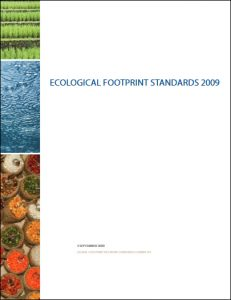 Ecological Footprint Standards 2009 report cover